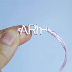 Blood Type ARh- Negative Macrame Cord Bracelet 🌸